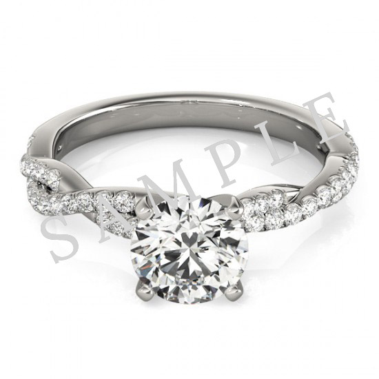 Platinum 5x5 mm Heart Engagement Ring Mounting