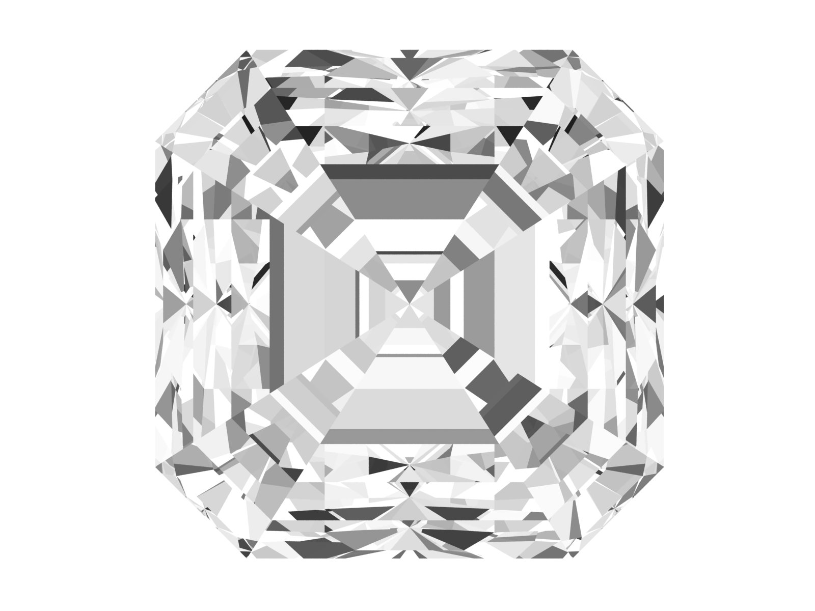 0.5 Carat Asscher Diamond