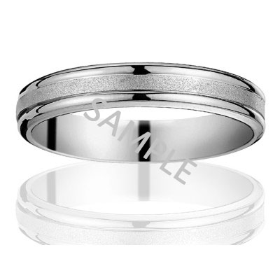 Men's White Gold WEDDING BAND