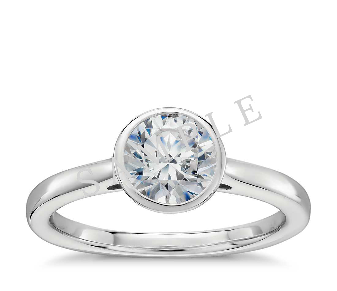 Channel Set Cathedral Diamond Engagement Ring - Pear - Platinum