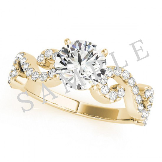 14K Yellow 6x3mm Marquise Engagement Ring Mounting 0