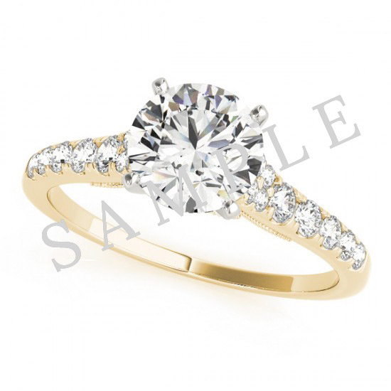18K Yellow 6x3mm Marquise Engagement Ring Mounting 0