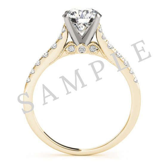 18K Yellow 6x3mm Marquise Engagement Ring Mounting 1