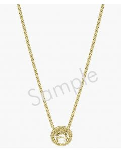 "14K Yellow 1/2 CTW Diamond Circle 16"" Necklace"