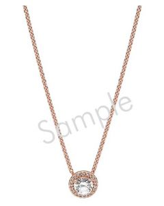 "14K Rose 1/2 CTW Diamond Circle 16"" Necklace"