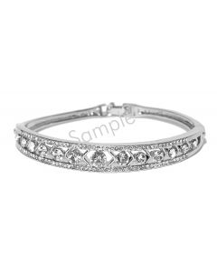 14K White 1/6 CTW Diamond Stackable Bangle Bracelet