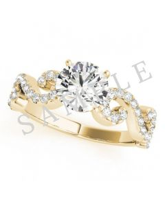 14K Yellow 6x3mm Marquise Engagement Ring Mounting