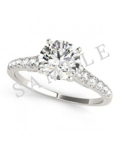 18K White 6x3mm Marquise Engagement Ring Mounting