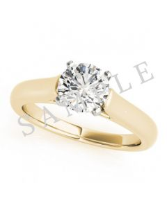 14K Yellow 8x4mm Marquise Solitaire Engagement Ring Mounting
