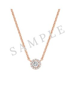"14K Rose .01 CTW Diamond Heart Youth 16"" Necklace"