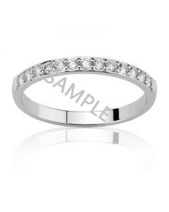 Women's White Gold WEDDING BAND
