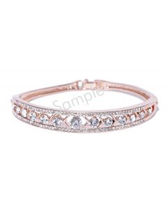 "14K Rose 1 CTW Diamond Line 7.25"" Bracelet"