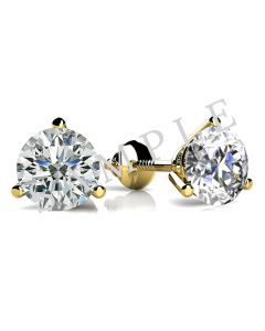 14K Yellow 6x6mm Cushion 1/5 CTW Diamond Semi-Set Earrings