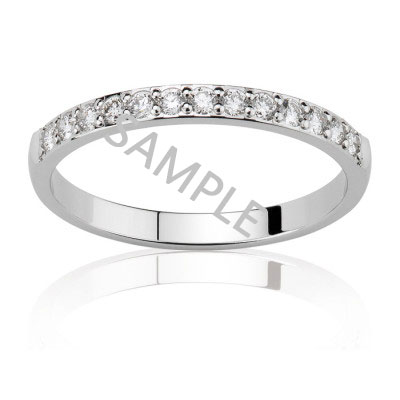 Women's White Gold WEDDING BAND 0