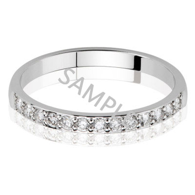 Women's White Gold WEDDING BAND 1