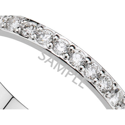 Women's White Gold WEDDING BAND 2