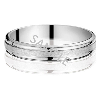 Men's White Gold WEDDING BAND 1