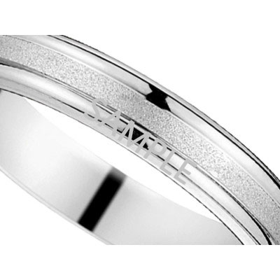 Men's White Gold WEDDING BAND 2