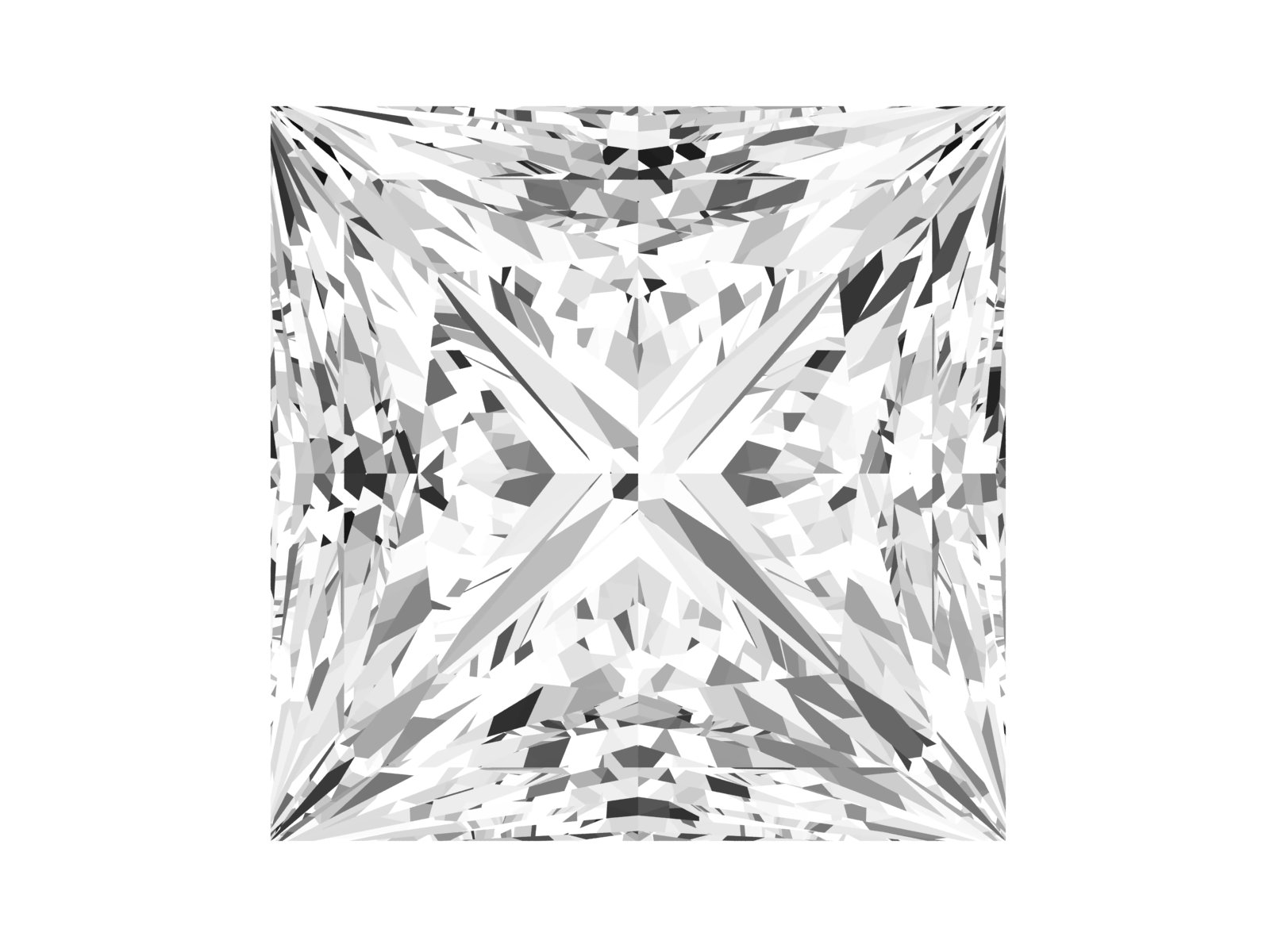 0.52 Carat Princess Diamond