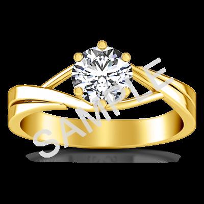 Trellis Princess Solitaire Diamond Engagement Ring - Princess - 18K Yellow Gold 0