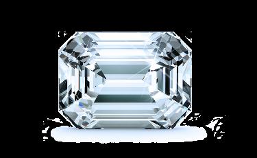 Trellis Princess Solitaire Diamond Engagement Ring - Princess - 18K Rose Gold with 0.46 Carat Emerald Diamond  1