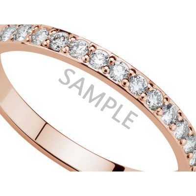 Women's Rose Gold WEDDING BAND 2