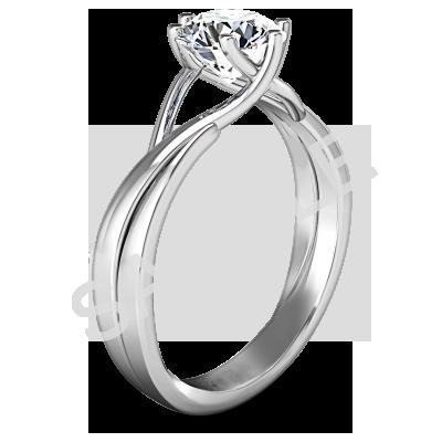 Trellis Princess Solitaire Diamond Engagement Ring - Princess - Platinum 1