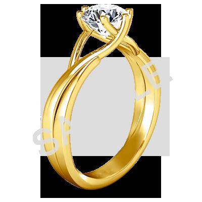Women's WEDDING RING ELLERY 18K YELLOW GOLD 1