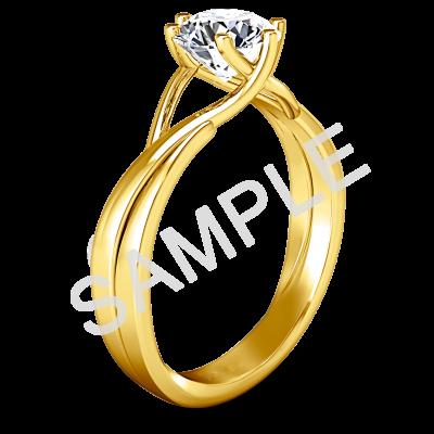 Women's WEDDING RING ELLERY 14K YELLOW GOLD 1